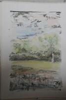 1982 - Litografia Numerata 36/99 Di Egidio Fusi - Paesaggio -  - ebay.it