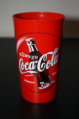 """Coca-Cola Becher 0,3 Liter """"Always/immer/toujours."""" Rot und Plastik Rarität 1997"""
