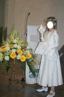 ❤ Kommunionkleid KÄTHE KRUSE Gr. 140 3-teilig, Seide, Erstkommunion, Kleid, Fest