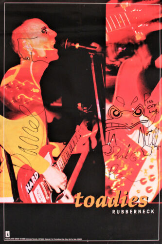 Full sized TOADIES Rubberneck vintage 90's poster Signed by all original members