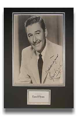 Errol Flynn Authentic Hand Signed Autograph 8x10 Vintage Photograph