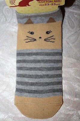 Super Süß! Socken aus Japan mit Katzengesicht Tiger-Katze Animal Fassion MODE
