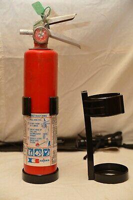 Universal 2.5lb Fire Extinguisher Black Plastic Vehicle Bracket