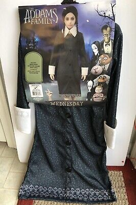 Wednesday Costume Addams Family (Wednesday Girls S Costume Halloween Addams)
