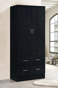 armoire wardrobe closet bedroom clothes organizer storage cabinet wood furniture - Wardrobe Closet