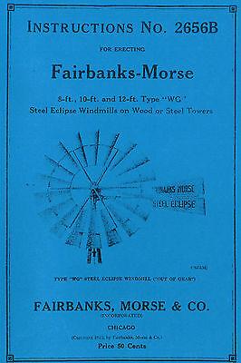 Fairbanks Morse Eclipse Windmill Wg Book Pump Jack 2656b Steel Hit Miss Engine