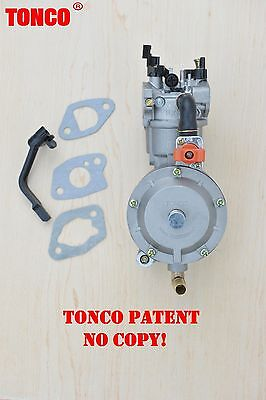 170F TONCO Dual fuel carburetor GX200 LPG conversion kit  for generator propane