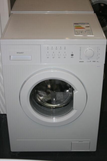 Waschmaschine Exquisit WM6810 A+ 6kg 1000U/m AquaStop,Schnellprogramm Neu 2.Wahl