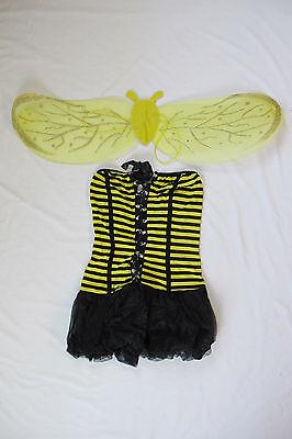 Cute Bumble Bee Costumes (Sexy Cute Bee Honeybee Halloween Costume with Wings Bumblebee Women Adult NEW)
