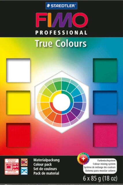 FIMO Professional 6 x 85g True Colours Polymer Oven Baked Clay Starter Pack
