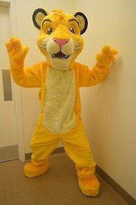 Simba Lion King Mascot Costume Party Character Birthday Halloween Cosplay Suit (Halloween Mascot Costume)