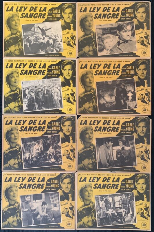Call Of The Wild CLARK GABLE LORETTA YOUNG  MEXICAN LOBBY CARD SET 1935