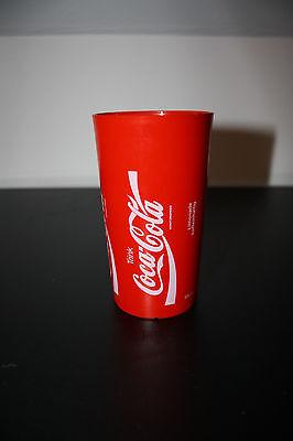 """Coca-Cola Becher 0,3 Liter """"Trink/Enjoy/Buvez/Bevete"""" Rot und Plastik Rarität"""