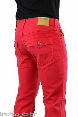 NWT True Religion Brand Men's Core Ricky Straight Leg True Red Jeans Pants