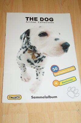 Stickeralbum The Dog Artist Collection insgesamt 104 Sticker von 180 eingeklebt