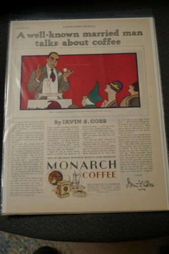 Irvin S. Cobb 1928 Ladies Home Journal ad