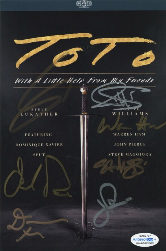 """Toto """"With a Little Help From My Friends"""" SIGNED Photo Steve Lukather + DVD ACOA"""