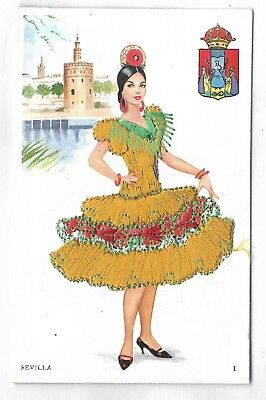 SEVILLA, SPAIN - Lady dressed in an Embroilery / Embossed dress for sale  Hamilton