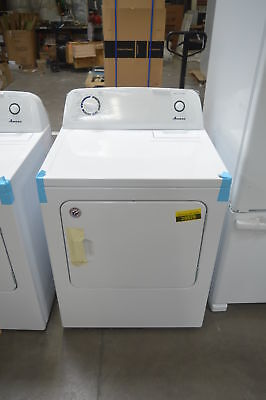 "Amana NED4655EW 29"" White Front-Load Electric Dryer NOB #28083 CLW"