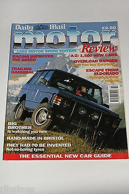 Daily Mail Motor Review 1993 Show Edition, VW/Jaguar/Honda/Mercedes/Volvo/BMW...