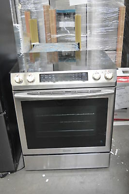 "Samsung NE58K9430SS 30"" Stainless Slide-In Electric Range NOB #35090 HRT"