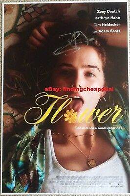 FLOWER 2018 MOVIE SIGNED POSTER 12x18 REPRINT ZOEY DEUTCH+MAX WINKLER+SCOTT+HAHN