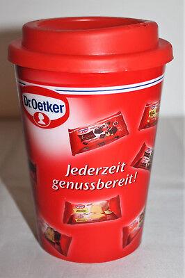 Dr. Oetker  Kuchen Backen Kaffeebecher Becher Coffee to go rot Kaffee NEU OVP