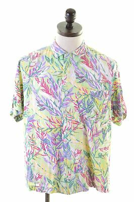 BEST COMPANY Mens Shirt Medium Multi Floral Loose Fit