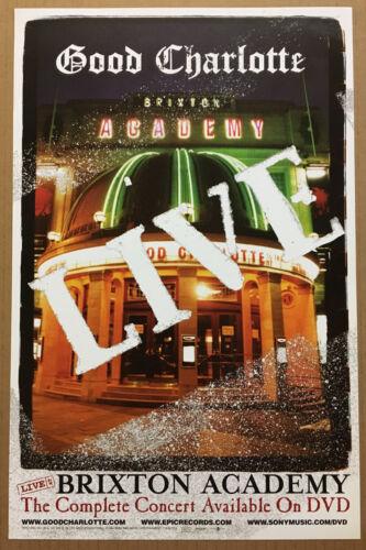 GOOD CHARLOTTE Rare 2004 PROMO POSTER for Live Brixton DVD MINT 11 x17 USA