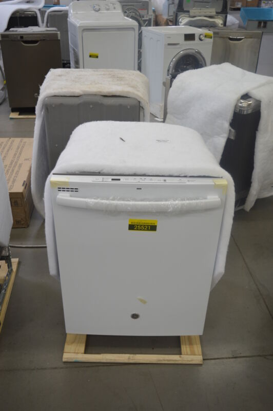 """GE 24"""" Top Control Tall Tub Built-In Dishwasher White-on-White GDT545PGJWW"""