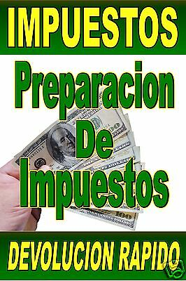 Advertising Poster Sign Income Tax Service Spanish Impuestos Rapido 24x36