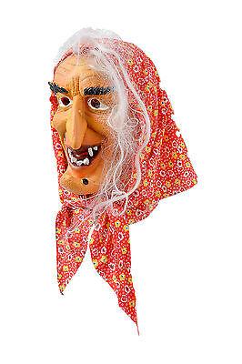 Hexenmaske mit rotem Tuch, Maske für Fasching, Karneval Kostüm Party