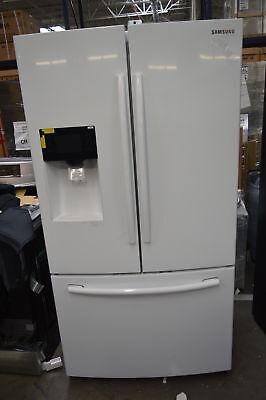 "Samsung RF263BEAEWW 36"" White French Door Refrigerator NOB #"