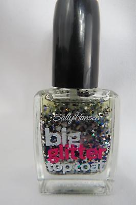Nail Polish Sally Hansen Big Glitter Top Coat 0.4 fl oz 130 Meteror Light