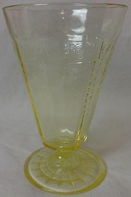 "Princess Topaz/Yellow Water Tumbler Footed 5.25"" 10 oz Set of 7 Hocking Glass"