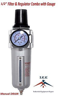 Air Pressure Regulator Filter Combo Compressor 12 Gauge