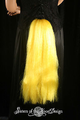 My Little Pony Applejack Costume (My Little Pony tail Yellow Applejack hair fall tie on cosplay halloween)