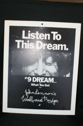 Vintage John Lennon Listen To This Dream Promotional Poster #9 Dream The Beatles