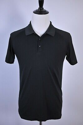 Lululemon Metal Vent Tech Polo Shirt Black Sz Men's Medium M