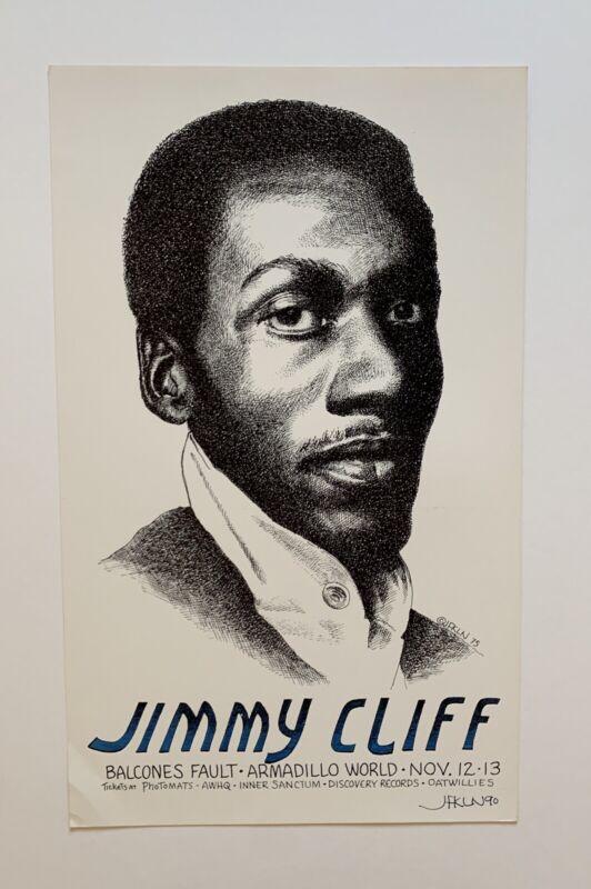 Jimmy Cliff Original 1975 Concert Poster (Jim Franklin) Signed