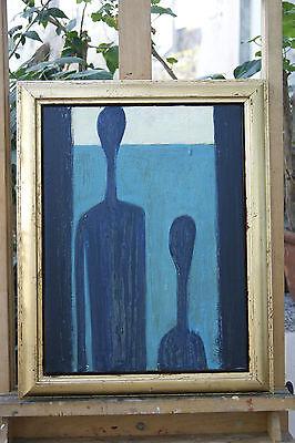 40 Zeitgenössische Leinwand (Dalip Paar auf Leinwand im Rahmen zeitgenössische Kunst 40 x 50)