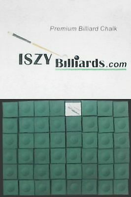 Premium Pool Table Billiard Cue Chalk 12 Pieces Green