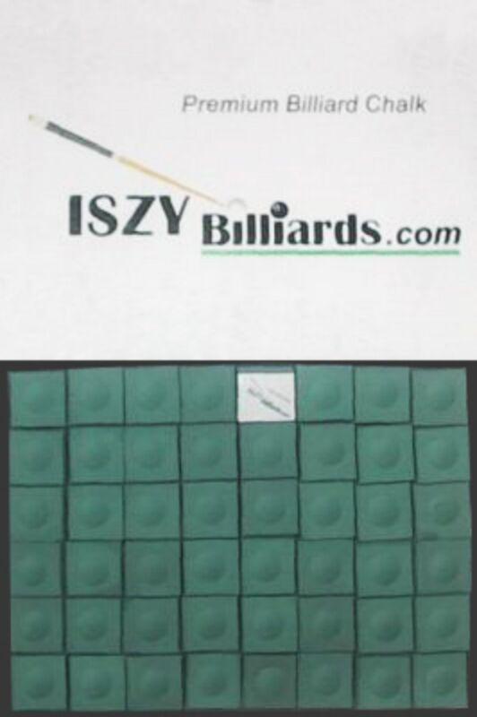 Premium Pool Table Billiard Cue Chalk 12 Pieces Green