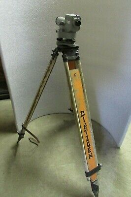 Dietzgen Wooden Survey Tripod And Sokkisha Lietz Automatic Level C3a