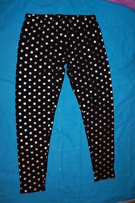 gs BLACK w/ GOLD FOIL POLKA DOTS Size XS / 1 (Gold Polka Dot Leggings)