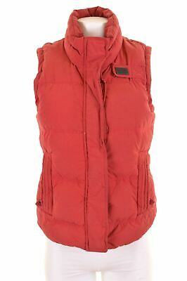 SUPERDRY Womens Padded Gilet Size 12 Medium Red Cotton University Gilet EN01
