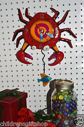 Allen Designs Whimsical Clock Crabby,  CLOSE OUT SALE ship in 48 hrs