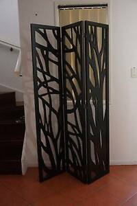 Folding screen/ room divider, three panel solid wooden Kelvin Grove Brisbane North West Preview