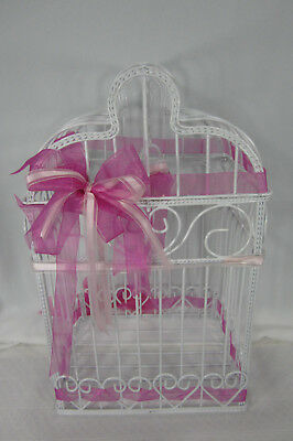 Wedding Gifts Birdcage Bridal Shower Centerpiece Money Holder Metal Wire Hearts