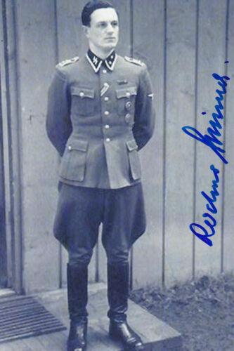 Rochus Misch Signed 4x6 Inch Photo Hitler